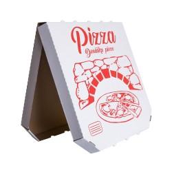 krabica na pizzu s univerzálnou potlačou 320x320x35 lomená